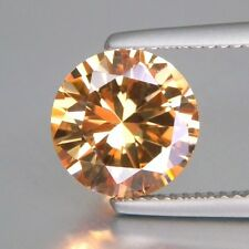 Round Brilliant Champagne CZ (2 - 10mm) Loose Cubic Zirconia Stone - Select Size