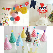 Party hat set/Birthday Cake Bunting/Garland Banner Party Decoration Supplies
