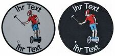 Segway Polo  patch with your text 8cm embroidered logo (548-1)