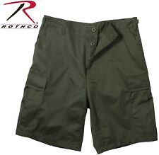 Olive Drab Green Military BDU Combat Cargo Shorts 100% Cotton Rip Stop 7053
