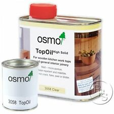 Osmo Top Oil Matt Clear 3058 Wood Finish For Wooden Kitchen Worktops/Furniture