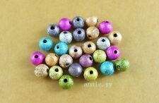 Mixed Stardust Acrylic Round Ball Spacer Beads Charms DIY 4mm 6mm 8mm