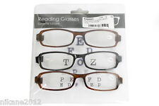 reading glasses 1.50 2.00 2.50 3.00 3.50 spectacles black brown free postage new