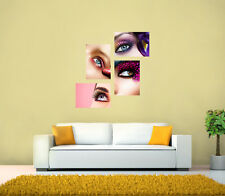 Beauty Salon, Nails ,Make up, Eye, Eyebrow, Shaping HQ POSTER SET OF 4 A3 or A4