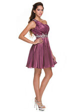 Short Cute Fun Homecoming Prom Cocktail Dance Party One Shoulder Clearance
