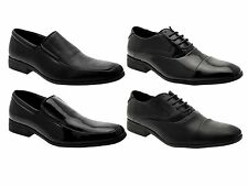 MENS SMART OXFORD LACE UPS LOAFERS SLIP ON FORMAL OFFICE WEDDING SHOES SIZE 6-11