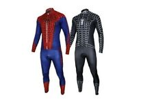 Hot Spiderman Costume Black Venom Cycling Kits Bicycle Suits Long Jersey+pants