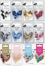 DOCRAFTS PAPERMANIA MINI BUTTONS POLKA DOT & DAISY VARIOUS PACKS + COLOURS - NEW