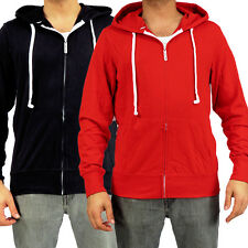 Hoodie Buddie Super Lightweight Fleece MP3 Earbuds Jacket Sweatshirt Black Red