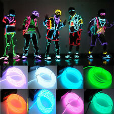 Fashion Party Car Home Decor Flexible EL Wire Rope Neon Glow Light 1/2/3/5M