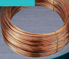 99.5% Pure Copper Wire Round Solid Uncoated Diameter 0.5mm - 8mm #E3-B1