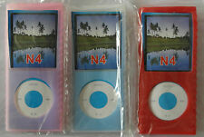 Apple ipod nano 4th gen 4g silicone case pink clear red