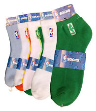 NWT AUTHENTIC MEN'S NBA 5 DIFFERENT COLORS OF BASKETBALL SOCKS SIZE 8-13