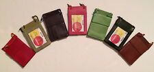 New Leather Neck Strap ID Badge Credit Card Holder Pouch Wallet  Mini CrossBody