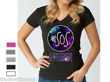 5 Seconds of Summer LADIES V Neck T-SHIRT GALAXY 5sos shirt