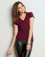Bella + Canvas NEW Ladies' Jersey Short-Sleeve V-Neck T-Shirt Size S-2XL B-B6005