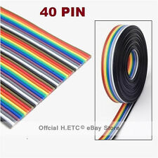 Hot Sale! 1M/2M/3M 1.27mm 40pin 1M Dupont Wire Flat Color Rainbow Ribbon Cable