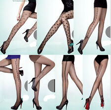 YJ4 Sexy Women Girls Tattoo Socks Sheer Pantyhose Mock Stockings Tights Leggings