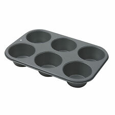 6 Cup Non Stick Muffin Cupcake Fairy Cake Baking Oven Trays Tins 3cm Deep