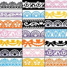 plastic diary stationery hollow decorative stickers diy lace tape for book album