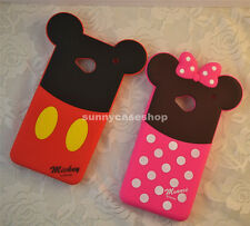 3D Cute cartoon Minnie Mickey Soft Silicone Case cover for HTC One M7 M8 galaxy