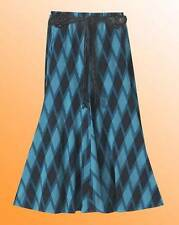 Long Skirt and Belt Simply Be Print Panelled Jersey 30in Size 12 UK Blue Check