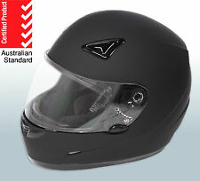 FULL FACE / ROAD BIKE HELMET **AS/NZS1698 5 TICK APPROVED** MOTORBIKE GEAR-BLACK