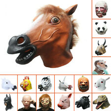 Adult Lady Horse/Unicorn/Pig/Panda/Chicken/Zebra/Batman/Maleficent Latex Mask
