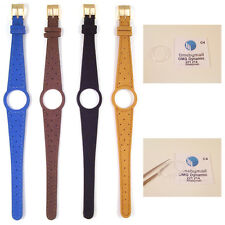 Ladies Watch Strap Band For OMEGA DYNAMIC Leather Replacement Gold Buckle S16