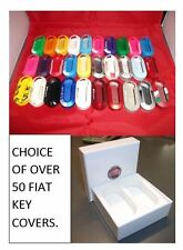 Choice of over 50 Fiat 500 Key Covers. Available with Fiat presentation box.