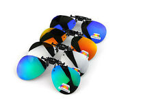 Fashion POLARIZED Clip-On sunglasses fishing hunting sport glare blocking