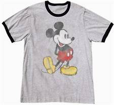 Adult Unisex Ringer Vintage Nostalgia Mickey Mouse Tee T Shirt Mens Womens New