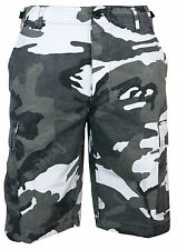 BDU Cargo Shorts In Urban Camo All Sizes Cotton Ripstop Combat Camouflage