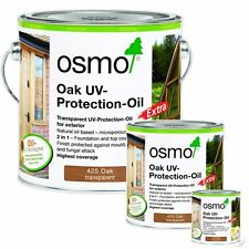 Osmo Oak Finish UV Protection Oil Extra 425 Exterior Woodwork & Garden Furniture