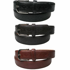 "Plain Leather Lined Suit Trouser Belt 1.25"" 30mm wide sizes 28""-44"" LH1009"