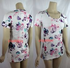 LULULEMON EVERY YOGI TEE SHIRT TOP -  FLORAL -  SIZE:  6 & 8