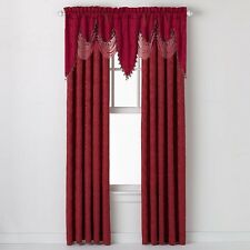 Portofino Jacquard Window Treatment Curtain Panel & Valance