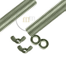 Threaded Bar A2 STAINLESS STEEL Threaded Steel Bar WITH WING NUTS & WASHERS