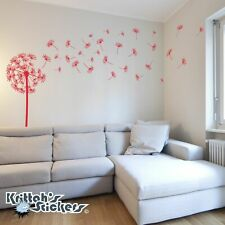 Dandelion Vinyl Wall Decal with blowing flower sticker seeds room art K545