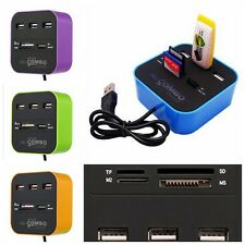 USB 2.0 High-speed HUB 3 Port Adattatore MMC/SD TF/Micro SD M2 MS lettore schede