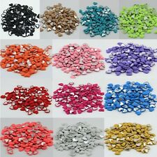 15 pcs DIY Hair bow accessorie(17 mm)Hearts Flat Back Snow yarn button YOU PICK