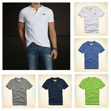 New Hollister by Abercrombie Men EMERALD COVE Henley T-Shirt Muscle Short Size