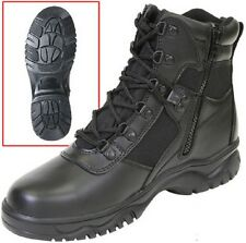 "Black Police Military Security EMT EMS Blood Pathogen Tactical 6"" Boots 5190"