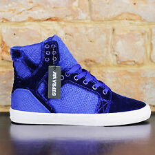 Supra Womens Skytop Muska Skate Shoes Trainers new in box in Purple UK Size 5,6