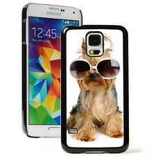 For Samsung Galaxy S3 S4 S5 Hard Case Cover 12 Yorkie with Glasses
