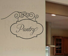 Pantry Sign Kitchen Wall Decal Vinyl Sticker Art Decoration Decor Graphic G33