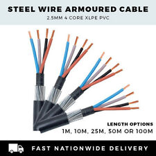 SWA CABLE ARMOURED CABLE 2.5mm CABLE 4 CORE CABLE PER METER,10M, 25M,50M or 100M