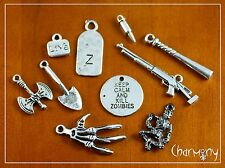 Zombie charms ~ survival kit Walking Dead inspired rifle daryl dixon katana barn