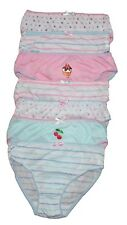 Girls 100% Cotton Briefs Pants Knickers Pack Of 7  Size Age 2/3, 3/4, 5/6, 7/8.