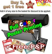 Buy 3 get 4th FREE - High Quality Poster Printing A0, A1, A2, A3, A4, A5